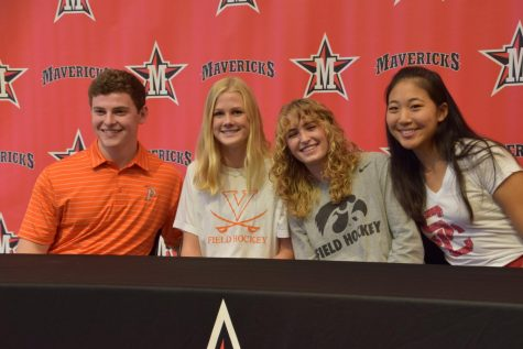 Last year, Beckett Vine, Mary VanLoh, Amelia Williams and Christine Wang celebrated National Signing Day.