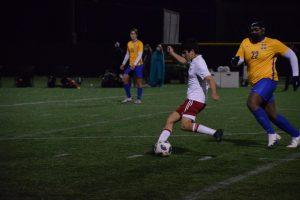 Captain Nico Munoz strikes the ball.