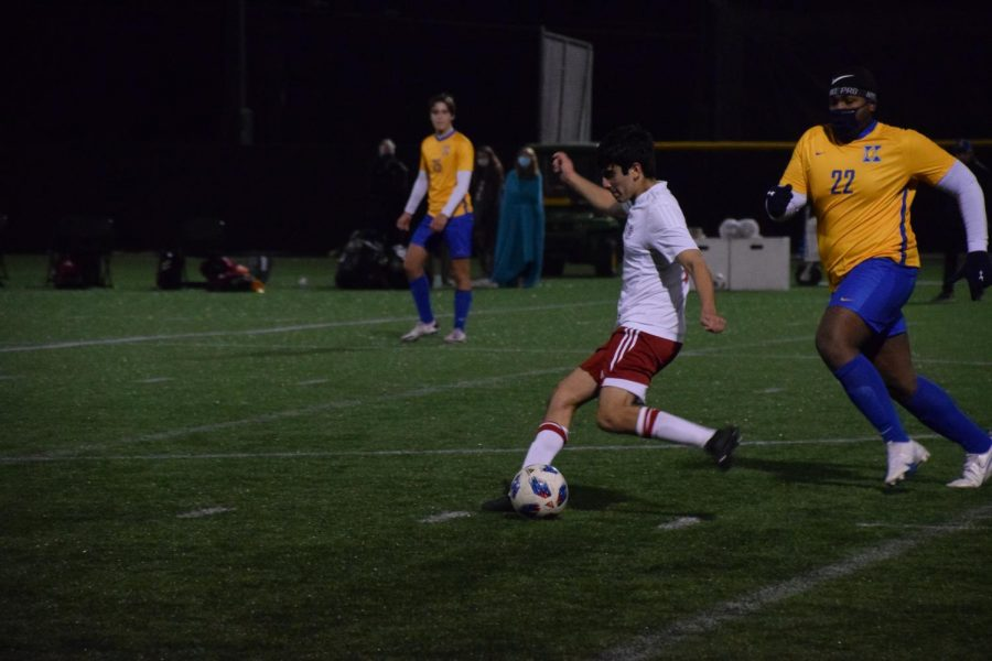 Captain Nico Munoz strikes the ball.