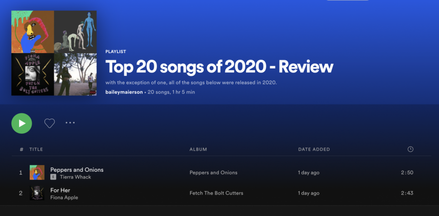 Maierson Melodies: Top songs of 2020
