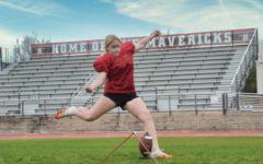 Seventh grader kicks off her first football season