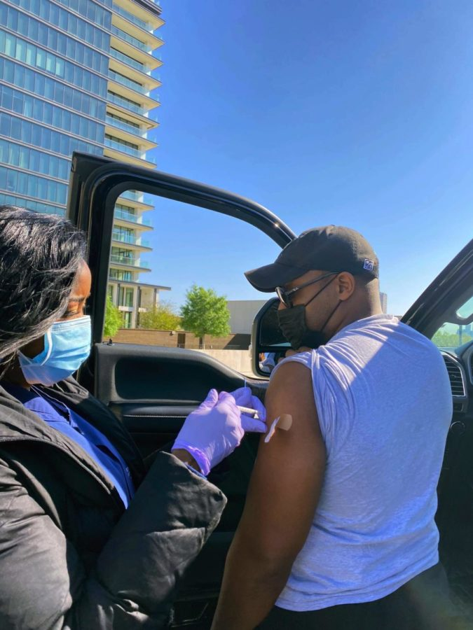 From 8 a.m. to 4 p.m., students, parents and even strangers entered the St. Luke's parking garage for their first vaccination.