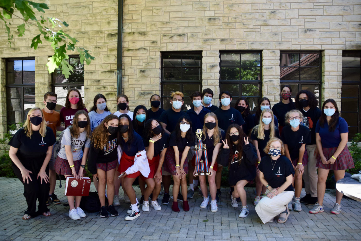French students won first place at the Texas French Symposium last month, with one of the largest teams to have participated since St. John's began competing in the event nine years ago.