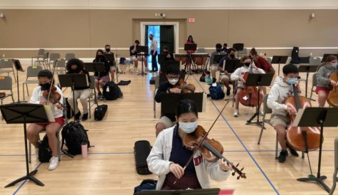 Band and orchestra combine in first ever symphony