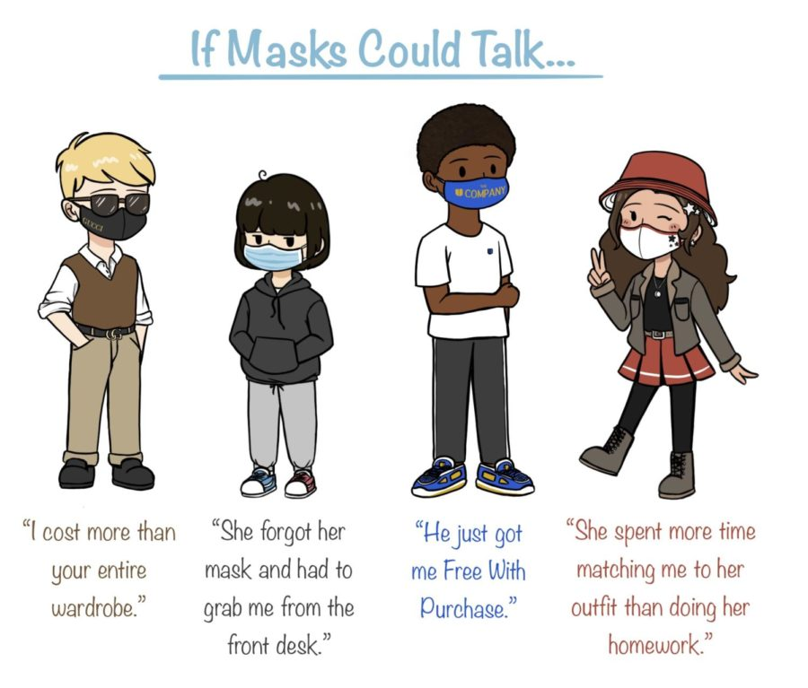 In this cartoon, sophomore Alice Xu discusses the various types of masks that students wear.
