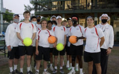 During the regular season, the girls' and boys' tennis teams lost only one match each.