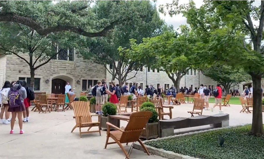 Upper School students returned to campus on August 25.