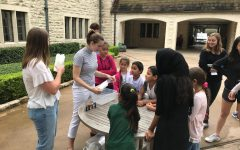 Before COVID, student tutors and refugee tutees met in person during the summer.