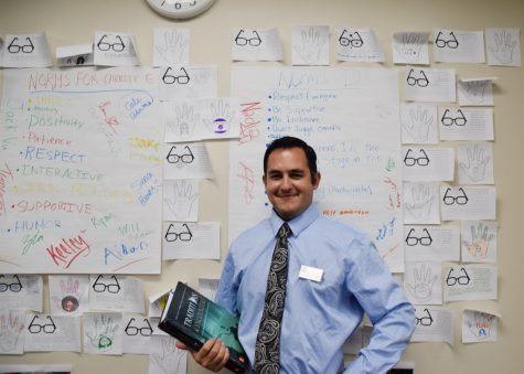 Alex Moya teaches history.